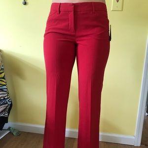 Red dress-pants.